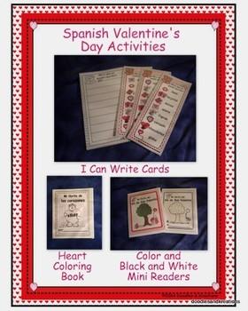 Spanish Valentine's Day Activities Set 1