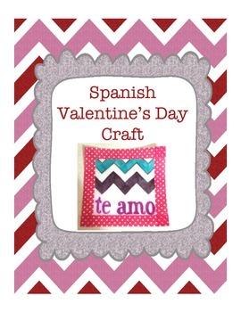 Spanish Valentine's Day Craft Activity