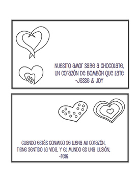 Spanish Valentine's Day Activity Pack