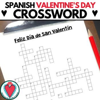 Valentines day crossword teaching resources teachers pay teachers spanish valentines day crossword spanish valentines day crossword m4hsunfo