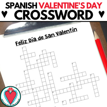 Spanish Valentine's Day CROSSWORD