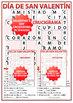 Spanish Valentine's Day Crossword - Crucigrama del Día de San Valentín