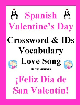 spanish valentine 39 s day crossword song picture ids card vocabulary. Black Bedroom Furniture Sets. Home Design Ideas