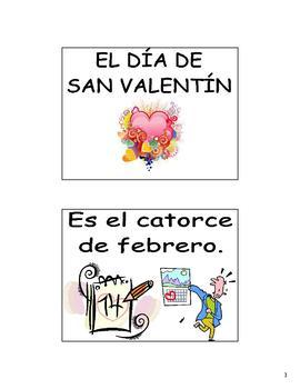 Spanish Valentine's Day (El Dia de San Valentin) Flash Cards & Games