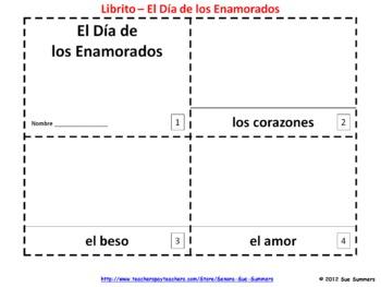 Spanish Valentine's Day - El Dia de los Enamorados Booklets
