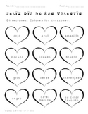 Spanish Valentine's Day Heart Coloring Worksheet