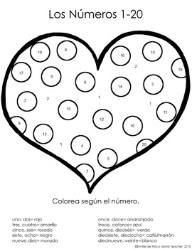 spanish valentines day hearts color by number 1 10 1 20 1 100 tpt