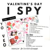 Spanish Valentine's Day Vocabulary - Spanish I Spy Game -