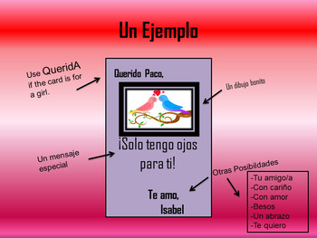 Spanish Valentine's Day Lesson/PowerPoint/Packet