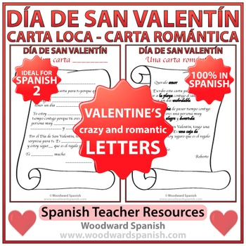 Spanish Valentine's Day Letters