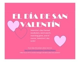 Spanish Valentine's Day Packet