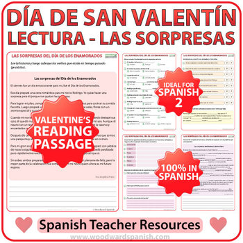 Spanish Valentine's Day Reading - Lectura del Día de los E