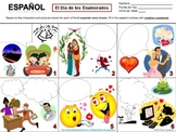 Spanish Valentine's Day Speech Bubble Creative Writing Activity