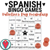 Spanish Valentine's Day Vocabulary Bingo