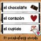 Spanish Valentines Day Word Wall - El Dia de San Valentin