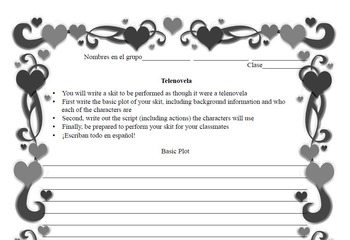 Spanish Valentine's Day activity packet