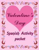 Spanish Valentine's Day activity packet
