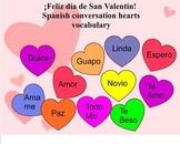 Spanish Valentine's Day vocabulary