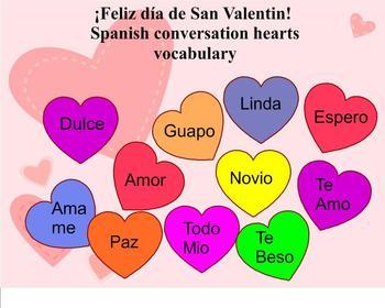 spanish valentine 39 s day vocabulary by merri lea de wit tpt. Black Bedroom Furniture Sets. Home Design Ideas