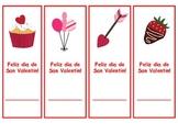 Spanish Valentine's bookmarks