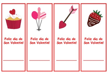 Spanish Valentine's bookmarks