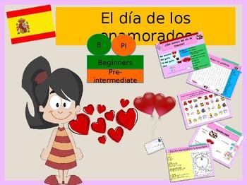 Spanish Valentine's day, el día de San Valentin presentation