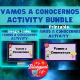 Spanish Vamos a Conocernos Getting to Know You Google Slid