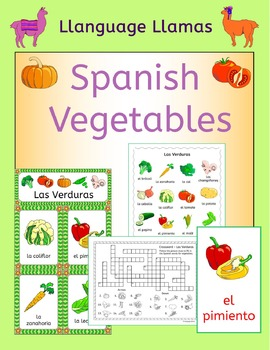 Spanish Vegetables - Las Verduras - Vocabulary