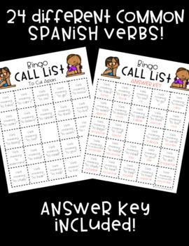Spanish Verb BINGO! ♦ 32 different cards! ♦