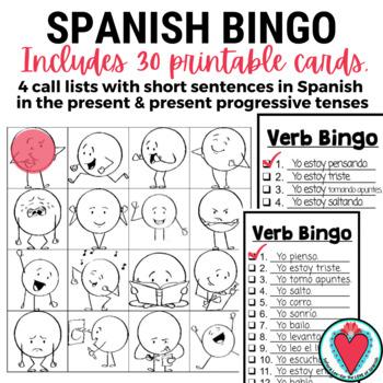 Spanish Verb Bingo - ESL Verb Bingo