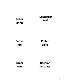Spanish Verb Cards: Regular in Preterite (-ar and -er/-ir)