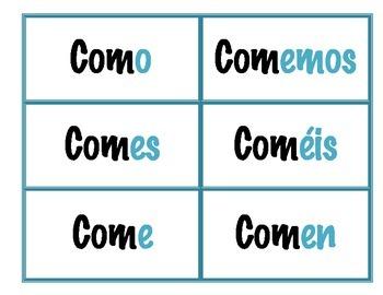 "Spanish Verb Charts/""Grammar Map"""