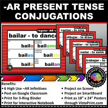 Spanish Verb Conjugation Charts / Posters / Handouts