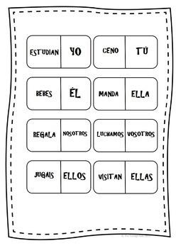 Spanish Verb Conjugation Domino - Present tense