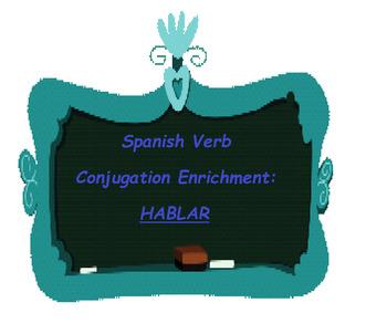 The Best Spanish Verb Conjugation Enrichment: HABLAR
