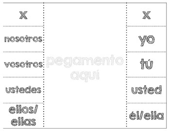 Spanish Verb Conjugation Interactive Notebook
