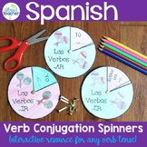Spanish Verb Conjugation Interactive Notebook Spinners