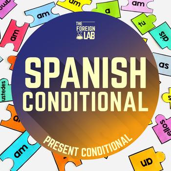 Spanish Verb Conjugation Puzzle – CONDICIONAL SIMPLE