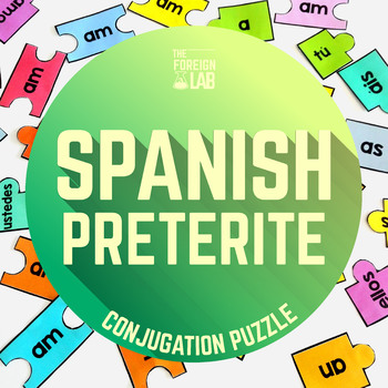 Spanish Verb Conjugation Puzzles -  PRETÉRITO PERFECTO SIMPLE