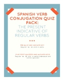 Spanish Verb Conjugation Quiz Pack: The Present Indicative
