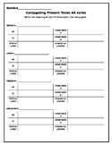 Editable Spanish Verb Conjugation Template w/Subject Pronouns