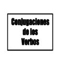 Spanish Verb Conjugation Workbook