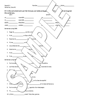 photograph regarding Spanish Verb Conjugation Worksheets Printable identified as Spanish Verb Conjugation Worksheets Lecturers Pay back Academics