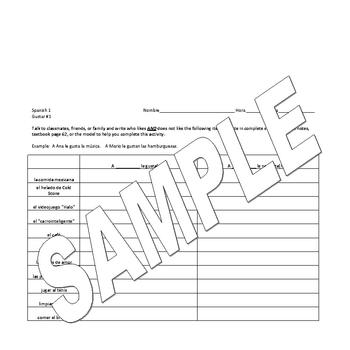 Spanish Verb Conjugation Worksheets (#1)
