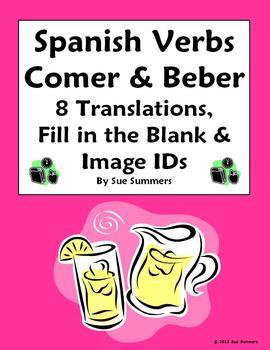 Spanish Verb Conjugations Verbs Comer and Beber