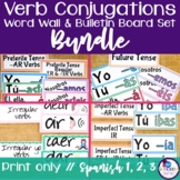 Spanish Verb Conjugations Word Wall & Bulletin Board Set BUNDLE