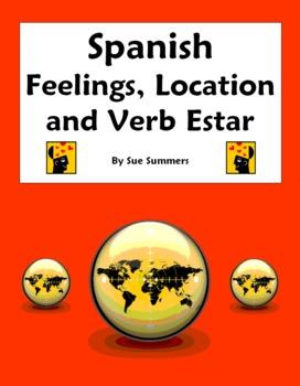 Spanish Verb Estar with Feelings & Location Fill in Blank & Translations