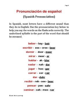 Spanish Verb Flashcards - ¡Los Verbos!