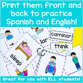 photo relating to Printable Spanish Flashcards called Spanish Verb Flashcards - Â¡Los Verbos!