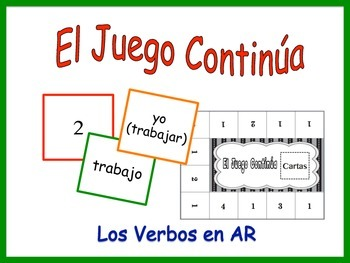 Spanish AR Verbs Activity for Groups